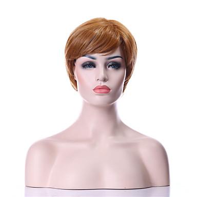 Synthetische Perücken Damen Locken Blond Synthetische Haare 6 Zoll Blond Perücke Kappenlos Goldgelb hairjoy