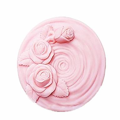 roos bloem vormige fondant cake chocolade siliconen mal taart decoratie gereedschappen, l7.8cm * w7.8cm * h4.4cm