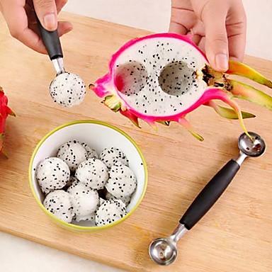 billiga Redskap till frukt och grönt-glass dubbel skopa sked melon baller cutter frukt köksredskap