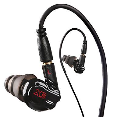 MP3 플레이어, MP4, 휴대 전화 이어폰 헤드셋 사운드 분리 헤드폰을위한 마이크와 함께 실행 X3 스포츠 이어폰