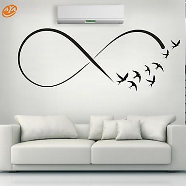 Állatok / Romantika / Divat / Alakzatok / Absztrakt Falimatrica Repülőgép matricák,PVC S:23*61cm/ M:31*84cm / L:45*117cm