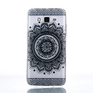 케이스 제품 Samsung Galaxy 삼성 갤럭시 케이스 투명 뒷면 커버 만다라 TPU 용 Grand Prime Core Prime