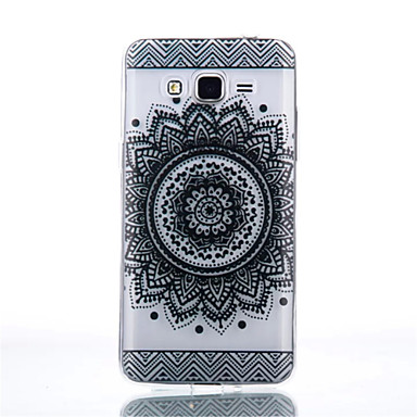 Case Kompatibilitás Samsung Galaxy Samsung Galaxy tok Átlátszó Fekete tok Mandala TPU mert Grand Prime Core Prime