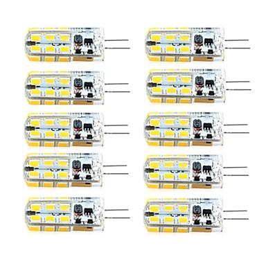 abordables Bombillas LED-brelong 10 pcs g4 regulable 2.5w 24led smd2835 maíz blanco claro / blanco cálido / ac12v / dc12v / ac220v