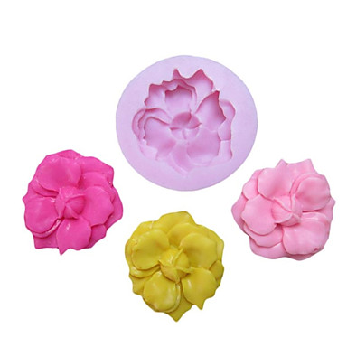 Bud Silikon Kalıp Cakes için Fondan Kalıplar Şeker Craft Araçları Reçine çiçekler Kalıp Kalıplar ile One Hole Çiçek