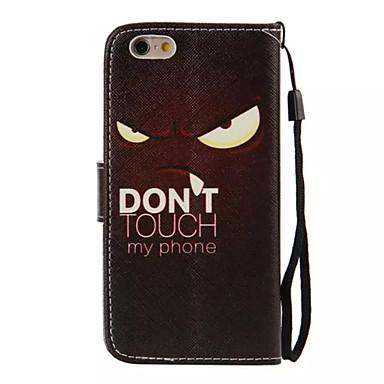 케이스 제품 Apple iPhone 6 iPhone 6 Plus 카드 홀더 지갑 스탠드 플립 패턴 전체 바디 케이스 블랙 & 화이트 하드 PU 가죽 용 iPhone 6s Plus iPhone 6s iPhone 6 Plus iPhone 6