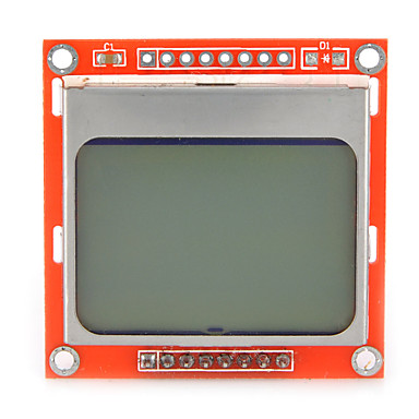 lcd nokia módulo 5110 lcd de 1,6 polegadas com iluminação de fundo branco para o arduino