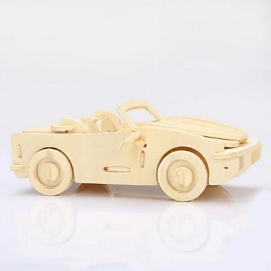 Fából készült építőjátékok Wood Model Autó 3D Fa