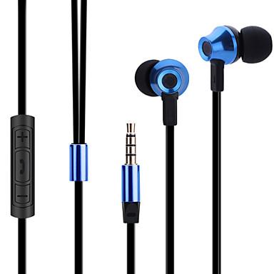 ABINGO ES700 No ouvido Com Fio Fones Armadura equilibrada Aluminum Alloy Celular Fone de ouvido Com Microfone Com controle de volume Fone