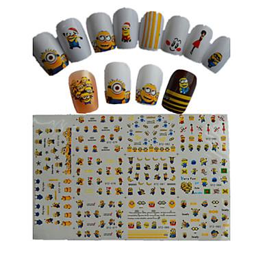 11db új rajzfilm szép kis sárga baba víz transzfer nail art matricák stz075-085
