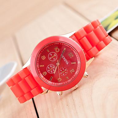 Pentru femei Quartz Ceas de Mână Ceas Casual Silicon Bandă Casual Modă Negru Alb Roșu Orange Maro Verde Pink Violet Yellow Bej Bleumarin
