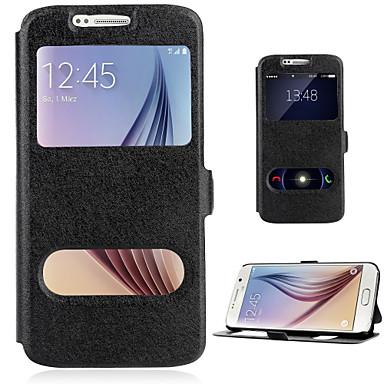 para Samsung Galaxy a7 (2016) caso A510 pu capa de couro da aleta com janela dupla estande a3 a7 a5 2016