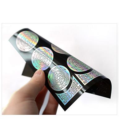 1pcs hollow nail sticker template-9*10.5cm-PVC-Virág-Ujj / Toe-3D-s akril körömsablonok