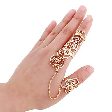 Gyűrűk Divat Parti Ékszerek Ötvözet Női Midi gyűrűk 1set,Egy méret Aranyozott