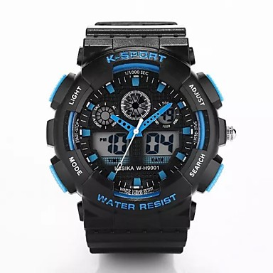 Homens Relógio Esportivo Digital Plastic Banda Luxo Preta