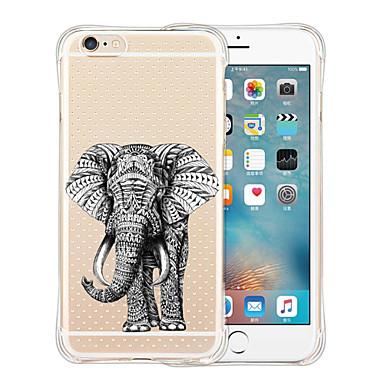 케이스 커버 용 iPhone 6 iPhone 6 Plus 뒷면 커버 충격방지 투명 패턴 동물 소프트 실리콘 iPhone 6s Plus iPhone 6 Plus iPhone 6s iPhone 6 용