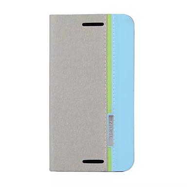 Voor Motorola hoesje Kaarthouder / met standaard / Flip hoesje Volledige behuizing hoesje Effen kleur Hard PU-leer Motorola