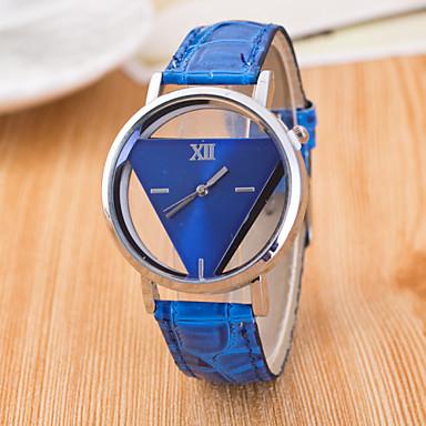 Women's Quartz Wrist Watch Hollow Engraving / PU Band Casual Fashion Black White Blue Red Pink