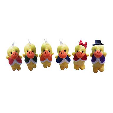 Ente Fingerpuppen Marionetten Niedlich Neuartige lieblich Zeichentrick Textil Plüsch Jungen Mädchen Spielzeuge Geschenk 6 pcs