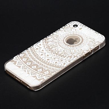 Case Kompatibilitás iPhone 5 Apple iPhone X iPhone X iPhone 8 iPhone 5 tok Átlátszó Minta Fekete tok Mandala Kemény PC mert iPhone X