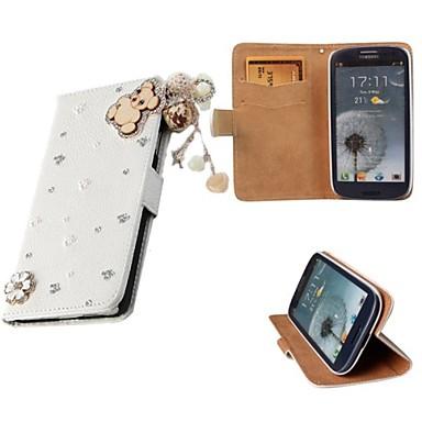 hoesje Voor Samsung Galaxy Samsung Galaxy hoesje Portemonnee Kaarthouder met standaard Flip Volledige behuizing Effen Kleur PU-leer voor
