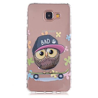 Case Kompatibilitás Samsung Galaxy Samsung Galaxy tok Átlátszó Minta Fekete tok Bagoly TPU mert A5(2016) A3(2016)
