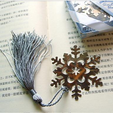 Schneeflocke geformte Edelstahl Lesezeichen