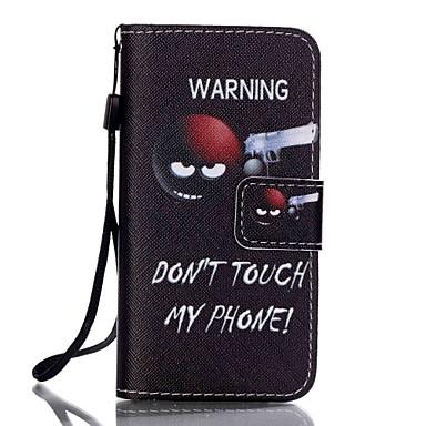 Case Kompatibilitás iPhone 5 tok Kártyatartó Pénztárca Állvánnyal Flip Minta Teljes védelem Szó / bölcselet Kemény Műbőr Bőr mert iPhone