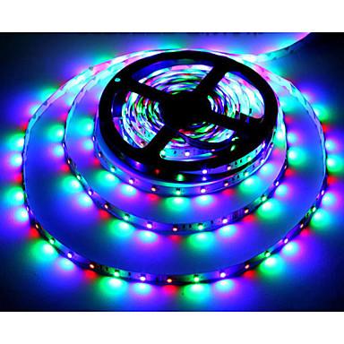 RGB szalagfények 300 LED RGB Távirányító Cuttable Színváltós Öntapadós DC 12 V DC 12V