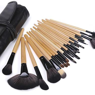 Brush Sets Nylonkwast Draagbaar Voor tijdens de reis Milieuvriendelijk Professioneel Beugel Hout Gezicht Oog Lip