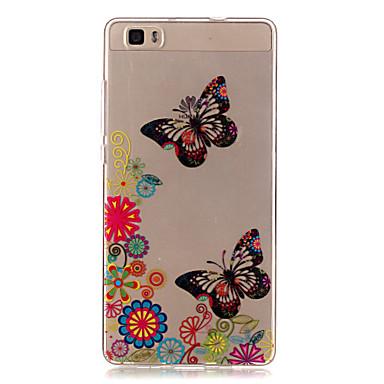 케이스 제품 Huawei P9 Lite P9 P8 Lite 화웨이 케이스 투명 뒷면 커버 버터플라이 소프트 TPU 용 화웨이 P9 화웨이 P9 라이트 Huawei P8 Lite