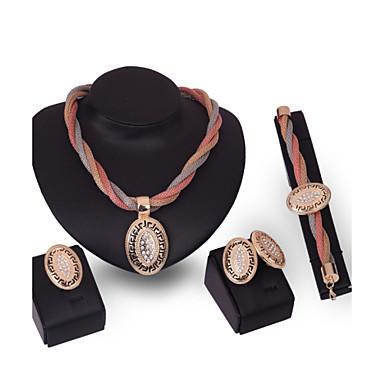 Damskie Zestawy biżuterii Rhinestone Spersonalizowane Vintage Wyrazista biżuteria Modny Ślub Specjalne okazje Urodziny Kryształ górski