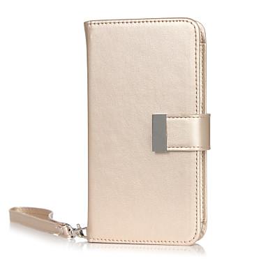 Kompatibilitás tokok Pénztárca Kártyatartó Teljes védelem Case Tömör szín Puha Műbőr Bőr mert Universal iPhone 6s Plus iPhone 6 Plus