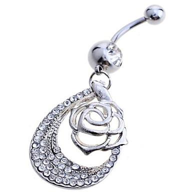 Női Testékszer Navel & Bell Button Rings Ezüst utánzat Diamond Fehér Ékszerek Napi Hétköznapi 1db