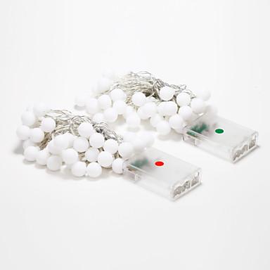 4m 40-vezette szabadtéri ünnep dekoráció fehér / meleg fehér fény LED-füzért fény (4.5V)