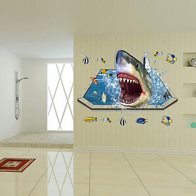 애니멀 / 보태니컬 / 카툰 / 로맨스 / 패션 / 휴일 / 풍경 / 모양 / 대중교통 / 판타지 / 3D 벽 스티커 3D 월 스티커,PVC 90cm x 60cm ( 35in x 24in )