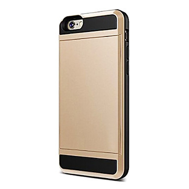 Coque Pour Apple iPhone 6 iPhone 6 Plus Porte Carte Coque Couleur unie Flexible Silicone pour iPhone 7 Plus iPhone 7 iPhone 6s Plus