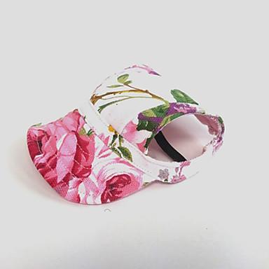 Kat Hond Bandana's & Hoeden Hondenkleding Vakantie Bloem Roze Kostuum Voor huisdieren