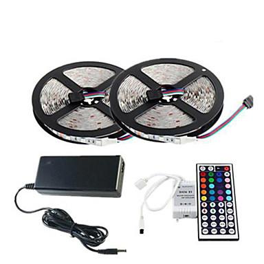 10m Flexible LED-Leuchtstreifen / Lichtsets / Leuchtbänder RGB 300 LEDs 5050 SMD RGB Fernbedienungskontrolle / Schneidbar / Abblendbar 100-240 V / Verbindbar / Selbstklebend / Farbwechsel