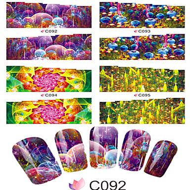 1 아트 스티커 네일 물 이동 스티커 카툰 러블리 메이크업 화장품 아트 디자인 네일