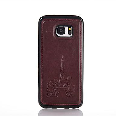 Case Kompatibilitás Samsung Galaxy Samsung Galaxy S7 Edge Dombornyomott Fekete tok Eiffel torony PU bőr mert S7 edge S7 S6 edge S6