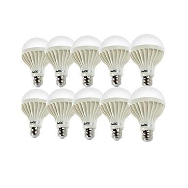 YouOKLight 10pçs 900lm E26 / E27 Lâmpada Redonda LED A80 18 Contas LED SMD 5630 Decorativa Branco Quente Branco Frio 220-240V
