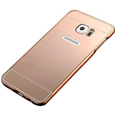 Недорогие Чехлы и кейсы для Galaxy S6-Кейс для Назначение SSamsung Galaxy S7 edge / S7 / S6 edge Покрытие / Зеркальная поверхность Кейс на заднюю панель Однотонный ПК