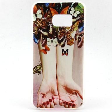 Mert Samsung Galaxy S7 Edge Ütésálló / Minta Case Hátlap Case Szexi lány TPU Samsung S7 edge / S7 / S6