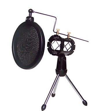 rezgésmentes tartó mikrofon tartóval, beépített pop filter fekete szett