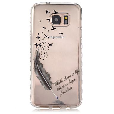 Mert Samsung Galaxy S7 Edge Átlátszó / Minta Case Hátlap Case Toll TPU Samsung S7 edge / S7