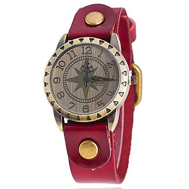 여성용 패션 시계 석영 캐쥬얼 시계 가죽 밴드 블랙 화이트 블루 실버 오렌지 브라운 멀티컬러