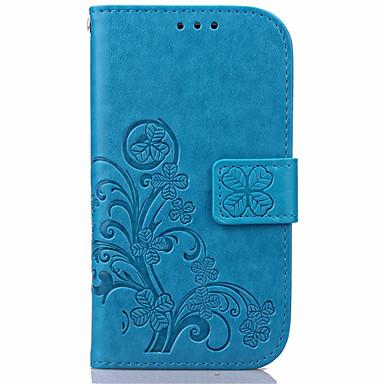 케이스 제품 Samsung Galaxy Samsung Galaxy S7 Edge 카드 홀더 지갑 스탠드 플립 엠보싱 텍스쳐 전체 바디 케이스 꽃장식 PU 가죽 용 S7 edge S7 S6 edge plus S6 edge S6 S5 S4 S3