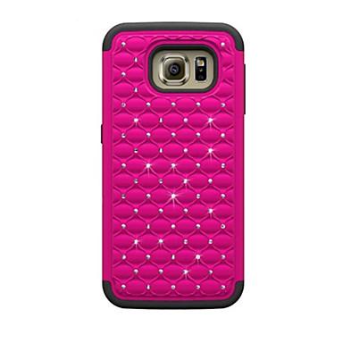 Mert Samsung Galaxy tok Ütésálló / Strassz / Dombornyomott Case Hátlap Case Mértani formák PC Samsung S7 / S6 edge / S6