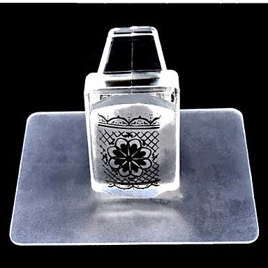 1 pcs bélyegzés Plate Sablon Stílusos / Divat Körömművészeti tervezés Divatos dizájn Napi / Műanyag